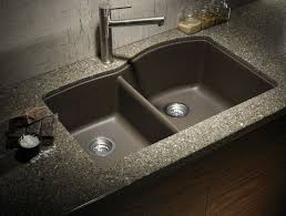 undermount kitchen sink granite tops black apron overmount on