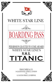 titanic dinner party invitations and awards yup you read that