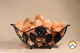 himalayan salt l basket himalayan salt tray l 100 natural himalayan salt chunks