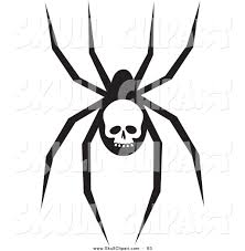 halloween spider clipart black and white royalty free spider stock skull designs