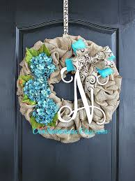 burlap wreath hydrangea etsy wreath wreaths summer