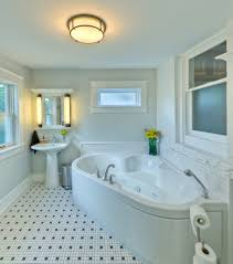 cozy bathroom with awesome white jacuzzi bathtub and astounding bright small bathroom feat mosaic tiles flooring and completed with big jacuzzi bathtub and eclectic ceiling
