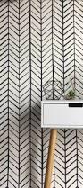 Herringbone Line Wallpaper Beige Peel by Wallpaper Removable Wallpaper Herringbone Wallpaper
