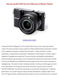 samsung nx1000 service manual repair guide by floraeason issuu