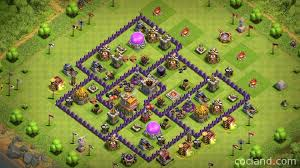 layout coc town hall level 7 town hall 7 hybrid base clash of clans land