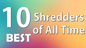 top 10 best shredders of all time youtube