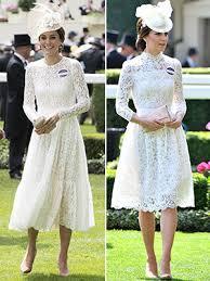 kate middleton dresses kate middleton s royal ascot stuns in white lace dress