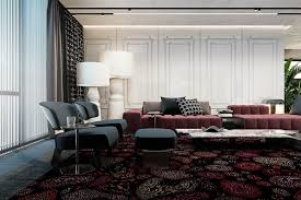 Home Colour Design by A Pair Of Dark Themed Homes With Sophisticated Accent Colors