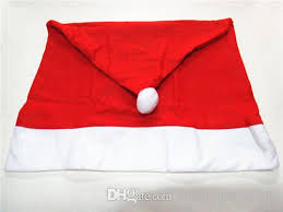 Christmas Chair Back Covers Christmas Chair Covers Christmas Decorations Santa Red Hat Chair