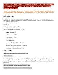sample er nurse resume with additional job summary with sample er