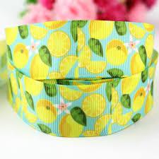 custom grosgrain ribbon 1 25mm custom pattern lemon printed grosgrain ribbon diy