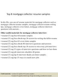 Mortgage Resume Debt Collector Resume Creative Designs Customer Service