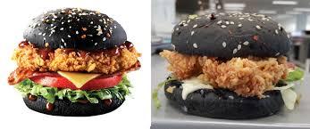 halloween burger burger king takeaway truth taste test kfc zinger black burger lifehacker