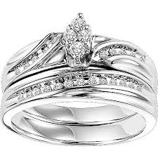 silver wedding ring forever 1 4 carat t w diamond sterling silver bridal set