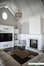Decorating Rooms With Cathedral Ceilings Tv And Fireplace Adjacent Walls Family Rooms Pinterest Walls