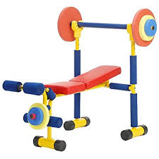 Workout Weight Bench Amazon Com Redmon Fun And Fitness Exercise Equipment For Kids