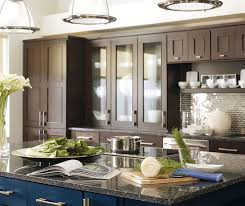kitchen island colors with wood cabinets wood cabinets with a blue kitchen island omega