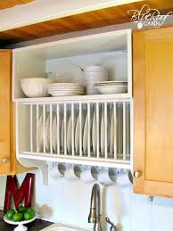 Kitchen Cabinet Racks Storage Remodelaholic Upgrade Cabinets By Building A Custom Plate Rack Shelf