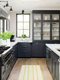 10 Beautiful Kitchens With Glass Cabinets Black And White Kitchen Cabinets Pictures Kitchen And Decor