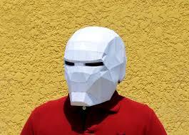 paper halloween mask diy iron man mask iron man mask marve superheroes