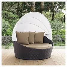 convene canopy outdoor patio daybed espresso mocha modway target