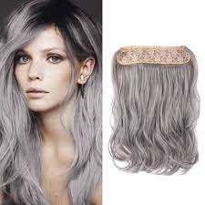 silver hair extensions flip in synthetic hair extensions 14 inch fashion silver grey
