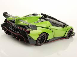Lamborghini Veneno Green - mr collection releases 1 18 scale lamborghini veneno roadster in