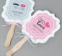 wedding fans favors 24 personalized fan wedding favors table decoration place