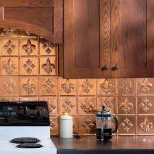 copper backsplash tiles for kitchen polished copper tile backsplashes tile the home depot