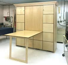 murphy bed desk plans table bed custom bed with table 2 king maple wall bed desk plans