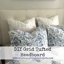 diy grid tufted headboard tutorial