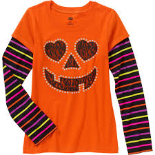 shirts for halloween halloween pumpkin face ls walmart com