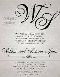 exles of wedding reception programs exles 50th wedding anniversary invitations style by