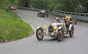 old bugatti an old racing car bugatti type 35 a 1926 runs in rally mille