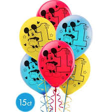 mickey mouse 1st birthday mickey mouse 1st birthday party balloons pack of 15 mickey mouse