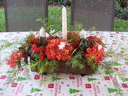 decorations beautiful table centerpiece with 3 candles leaves