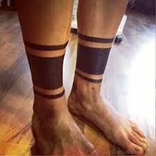 53 band tattoos on leg