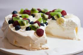 australian pavlova with cream u0026 fruit