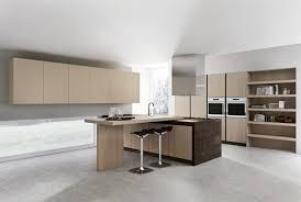 ilot de cuisine avec coin repas cuisine design en bois