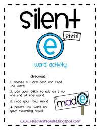 silent e word activity by mrs pollard teachers pay teachers