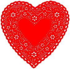 heart doily heart doily valentines hearts heart