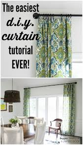 how to make curtains the easy way designers diy curtain rods