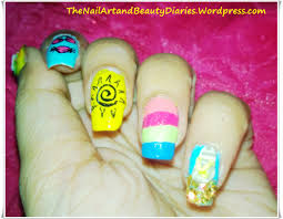 my summer nail art the nail art and beauty diaries