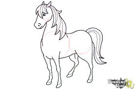 how to draw a horse easy drawingnow
