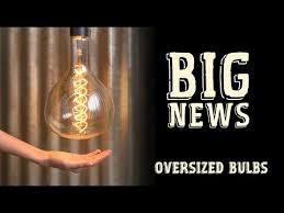 oversized vintage light bulbs