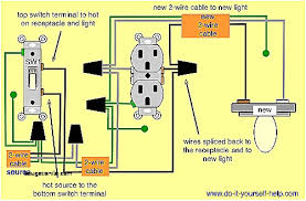 new how to wire a light switch from an outlet diagram wiring