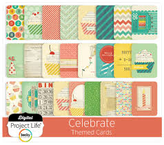 digital project celebrate themed scrapbooking cards