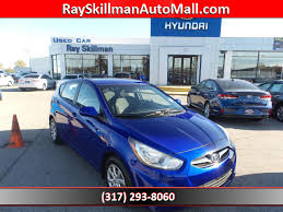 2013 hyundai accent gs pre owned 2013 hyundai accent gs hatchback in indianapolis h5513a