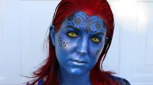 men halloween makeup mystique x men halloween makeup tutorial youtube