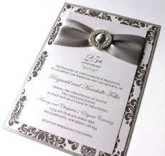 25 year wedding anniversary 25 wedding invitations wedding card modern wedding anniversary